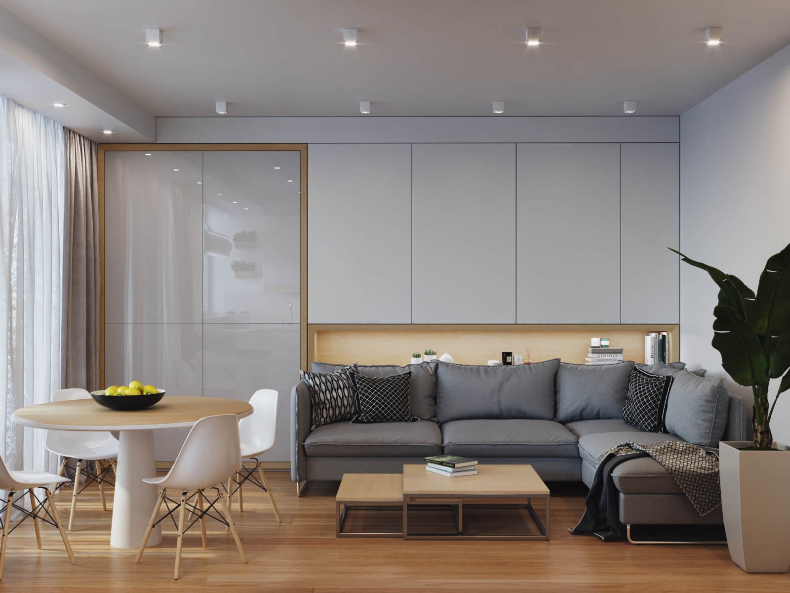 White and Grey Interior Visualization