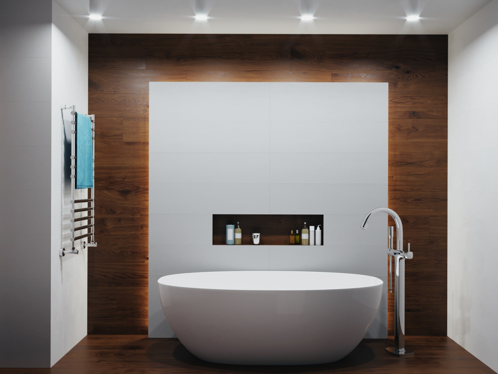 Warm Bathroom Visualization