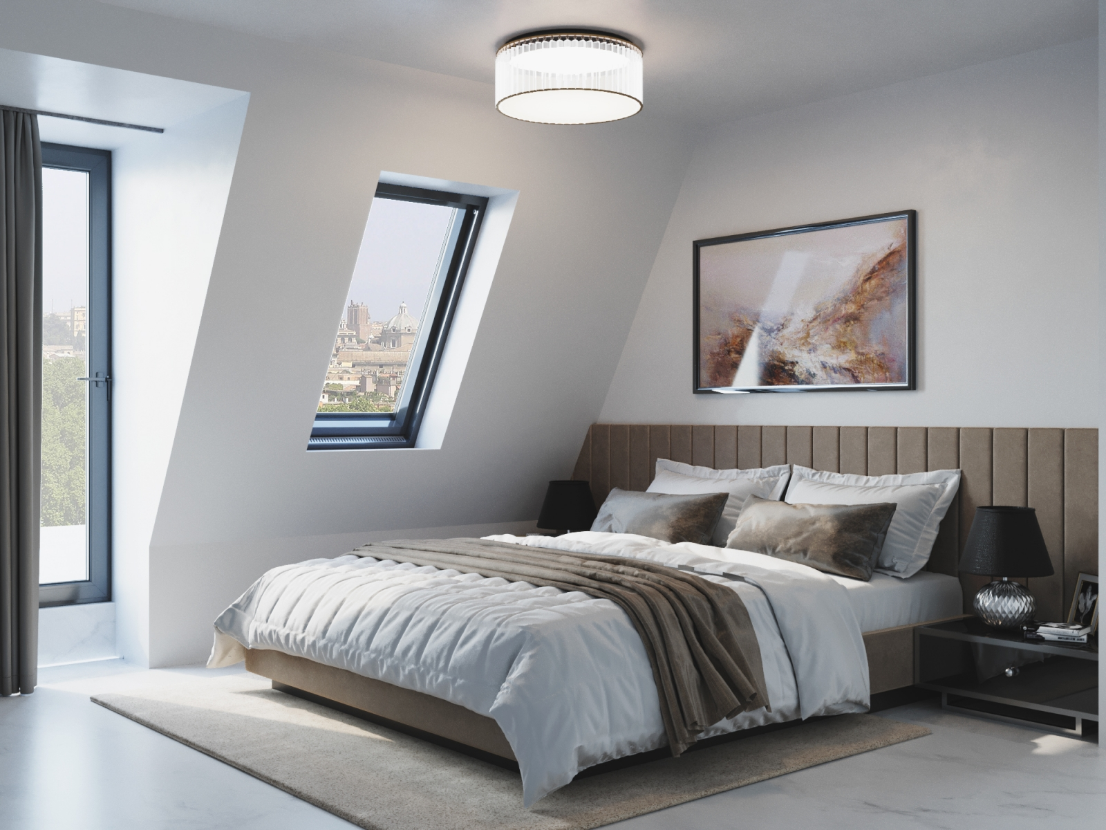 Light Bedroom Visualization