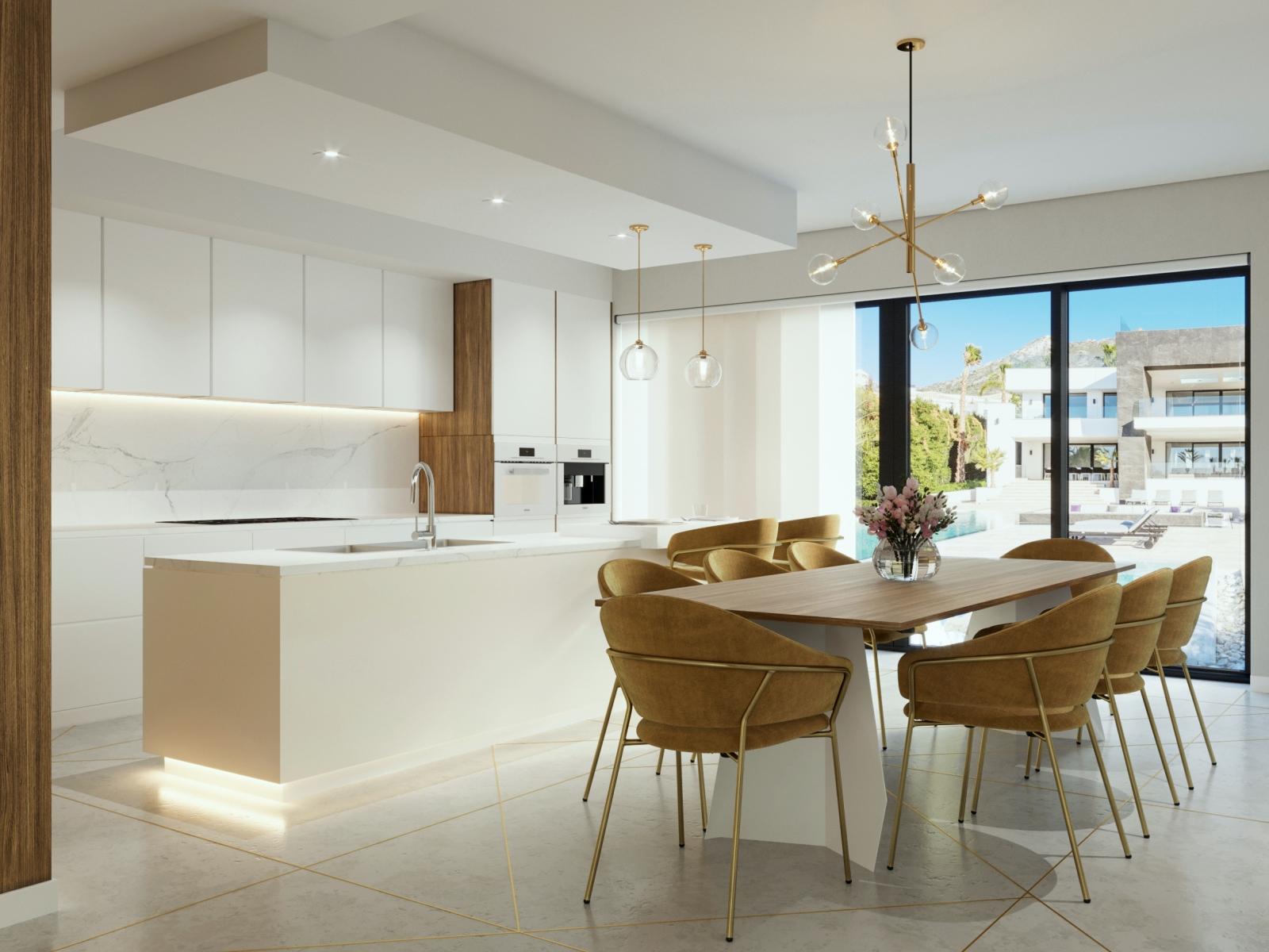 Luxury Kitchen in Marble
