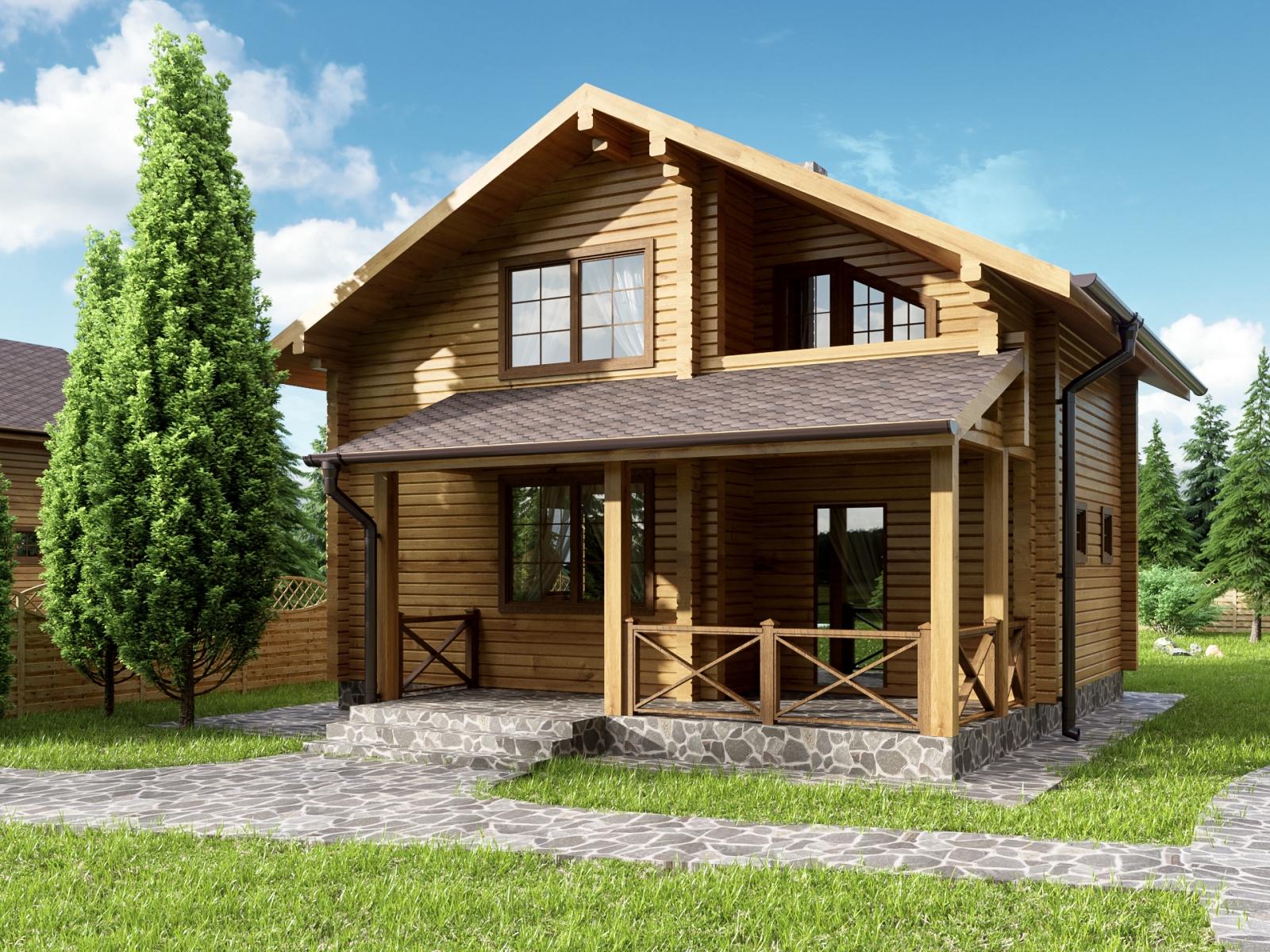 Stylish Wood House Visualisation